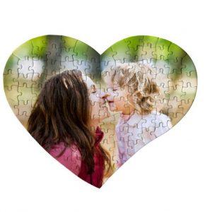 puzzle de corazón personalizado con foto