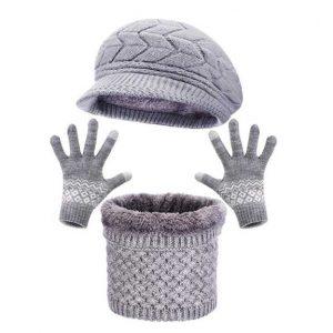 gorro, bufanda y guantes de lana