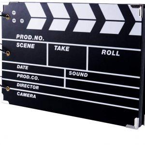 album de fotos en forma de claqueta de cine
