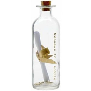 botella de cristal con mensaje