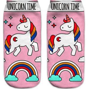 calcetines cortos de unicornio