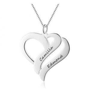collar con forma de corazón personalizado