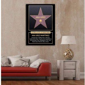 estrella de la fama personalizada