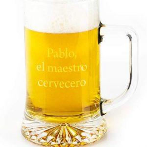 jarra de cerveza personalizada con nombre