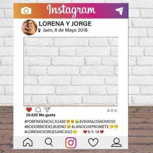 photocall de instagram personalizado