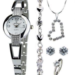 reloj con juego de joyas