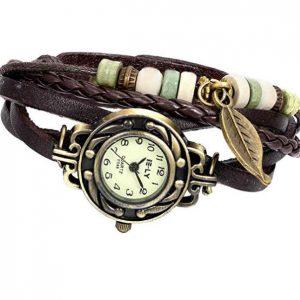 reloj pulsera trenzada