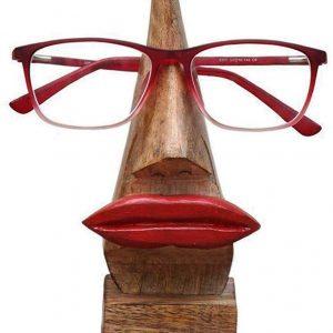 soporte con gafas en forma de nariz
