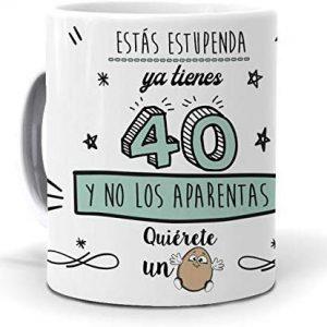 taza 40 cumpleaños