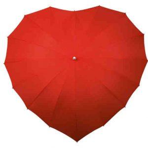 paraguas con forma de corazon