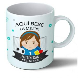taza para futbolista